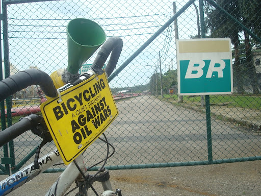 """Bicycling - a quiet statement against oil wars"""