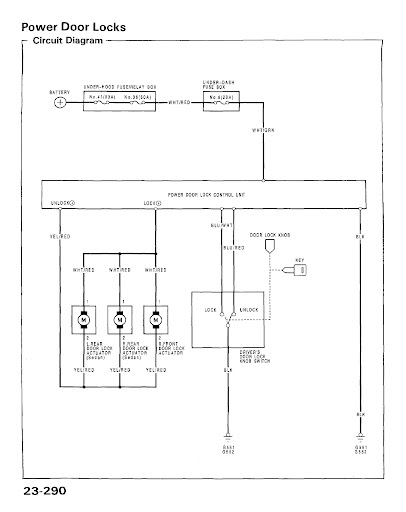 EG6 power lock wiring diagram and alarm install