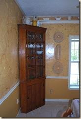 corner with china cabinet