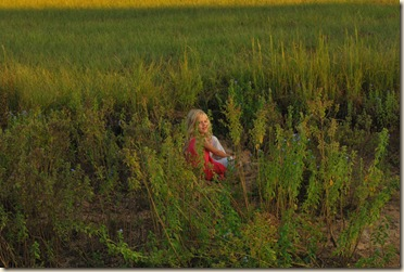 AG in the weeds at the pond