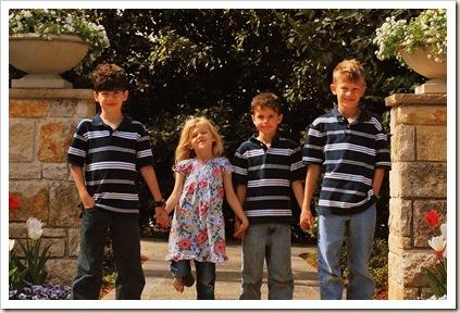 smiling kids on widewalk