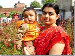 Nattu Pandey and Mother