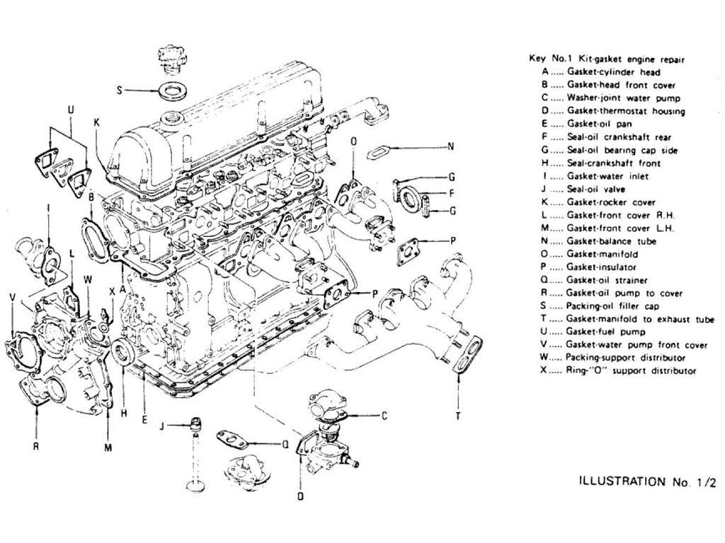 Datsun 240z 260z Engine Gasket Kit L24 L26 To Nov 74
