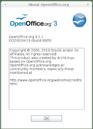 OpenOffice 3.2.1 en ArchLinux