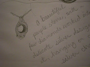 The necklace I drew for my story...