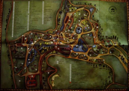 Rozkładana mapa oliwskiego zoo