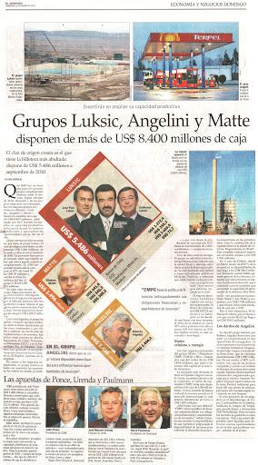 Grupos Luksic, Angelini y Matte 2011