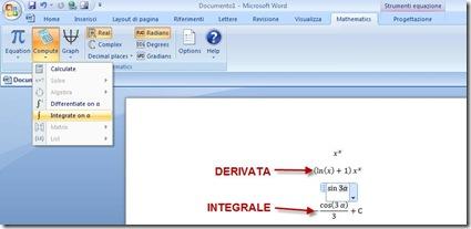Inserire simboli matematici, calcoli, espressioni e charts in Word con Microsoft Mathematics Add (3/5)