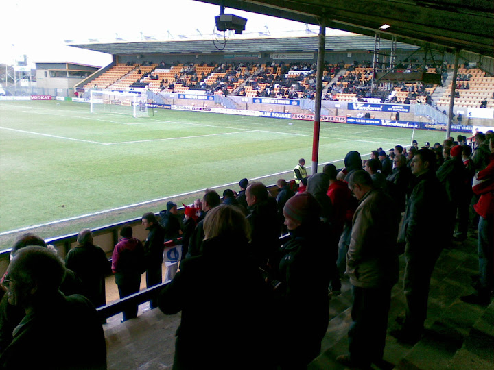 Rushden fans watch on as KO approaches.