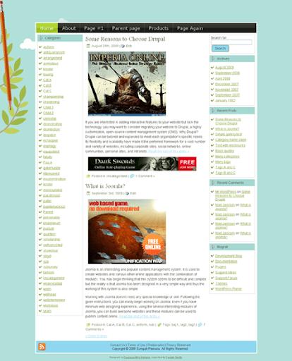 Blue Twits WordPress Template