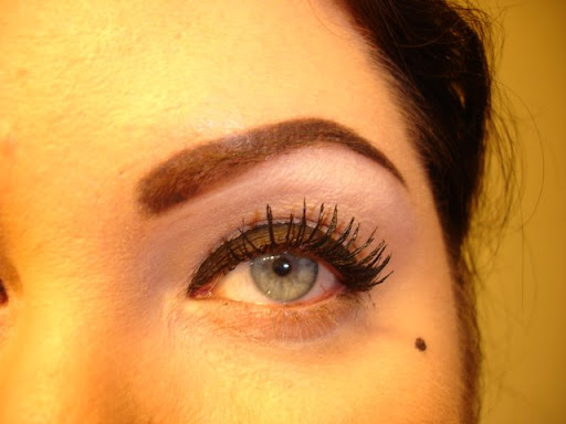 MAC Chromaline in Black Black with Maybelline Lash Stylist Mascara