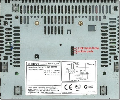 Car Radio Code Calculator: SONY XR500  XR800