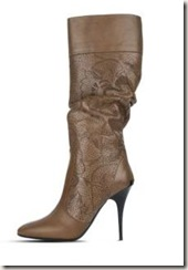 burberry LACE LEATHER BOOTS