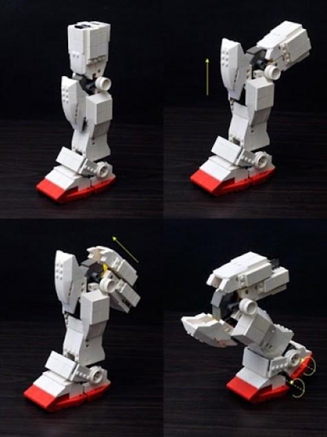 Gundam Lego Pierna Articulada