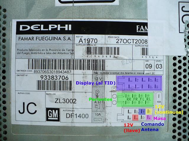 Conexiones Stereo Delphi Del Corsa Classic