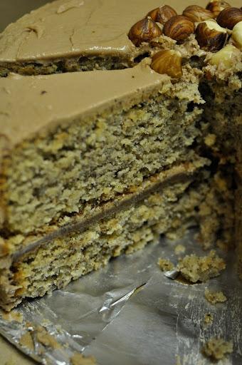 covered in chocolate-hazelnut-coffee buttercream