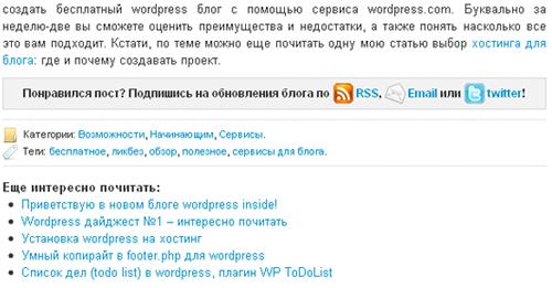 оформление записи wordpress блога