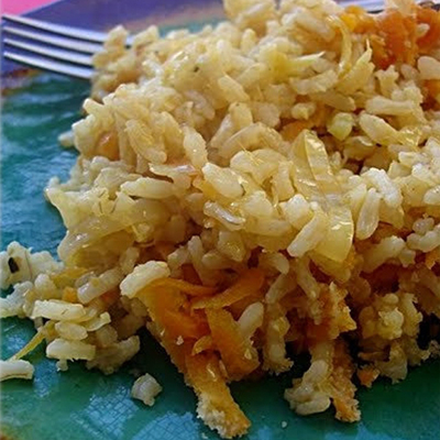 Delicious for kids-Rižoto sa integralnim pirinčem, kupusom i šargarepom