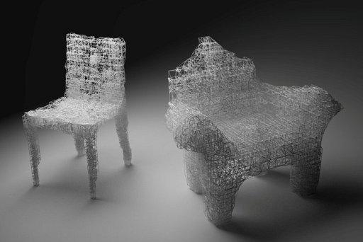 近づくと建築になるイス(Ornament Strukturalny)