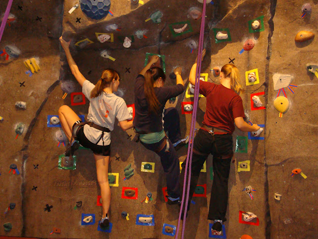 UIUC rockclimbing at ARC, one of the recreational facilities on campus.
