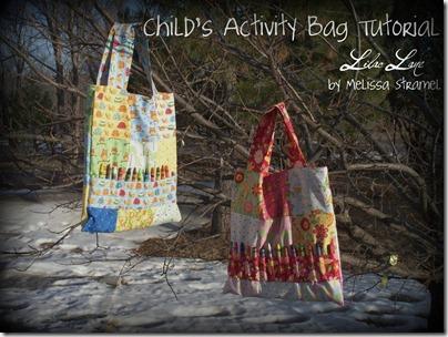 Bolsinhas para coisinhas de crianças