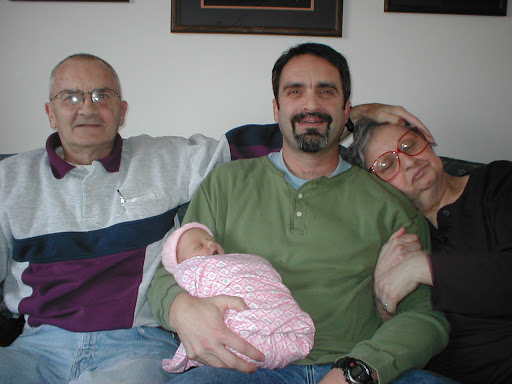 My Dad, Me, My Mom, and my Darling (newborn) Daughter