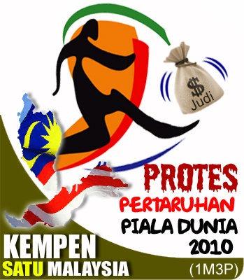 Kempen Satu Malaysia Protes Pertaruhan Piala Dunia
