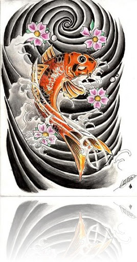 Koi Fish With Koi Fish Tattoo Typically Japanese Koi Fish Tattoo Designs