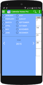 Calendar Notes Free screenshot 1