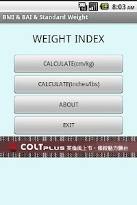 BMI & BAI & Standard Weight screenshot 1