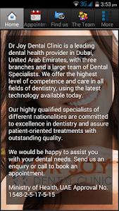 Dr Joy dental clinic UAE screenshot 2