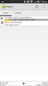 SABNZBDroid screenshot 1