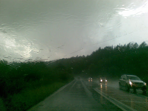 More rain, en route to Holker Street.