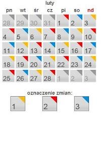 Kalendarz zmianowy screenshot 1