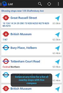 Depart: London Transport Live screenshot 1