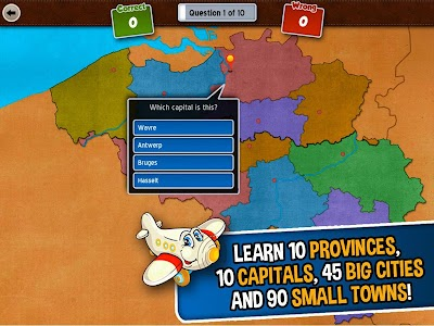 GeoFlight Belgium: Geography screenshot 1