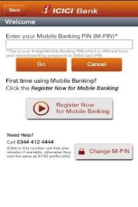 ICICI Bank UK – Mobile Banking screenshot 1