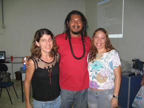 Implementador Eduardo Aguiar e multiplicadoras Alessandra e Cida Marconcine