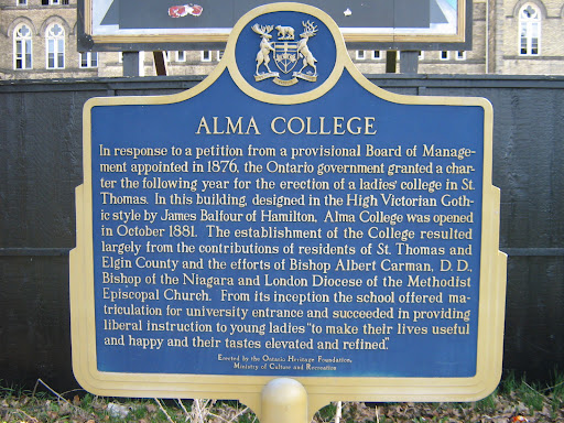 Alma College Historical Plaque