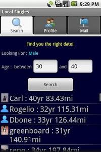 Local Singles screenshot 1