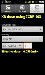 CT and XR Dose Calculator screenshot 1