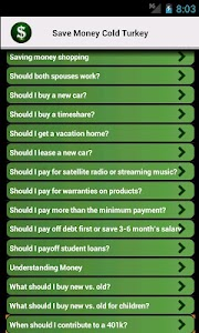 Save Money Cold Turkey screenshot 2