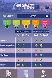 Air Quality in Europe screenshot 1