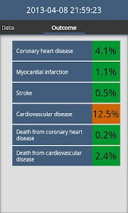 Cardiac risk calculator screenshot 4