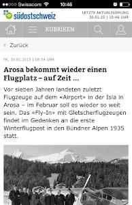 Südostschweiz (Phone) screenshot 1