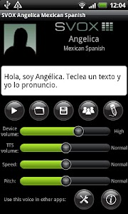 SVOX Mexican Angelica Trial screenshot 0
