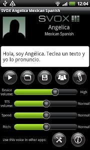 SVOX Mexican Angelica Trial screenshot 0