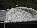 Bulky Knitted Hat in Progress