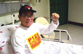 Crispin Beltran sa Philippine Heart Center   Larawan mula sa Arkibong Bayan at Anakpawis