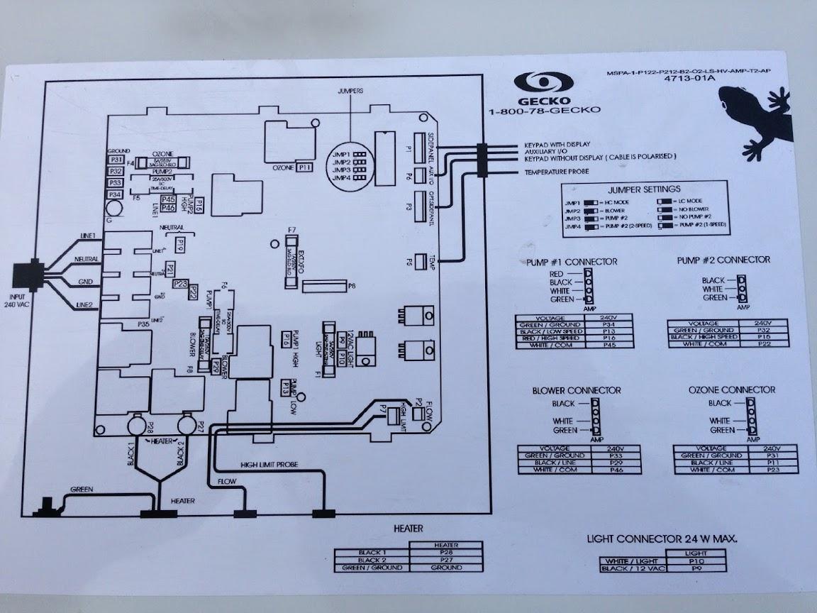 Gecko Spa Wiring Diagram | Wiring Diagram Centre on